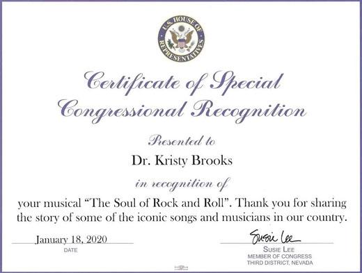 Congressional Certificate